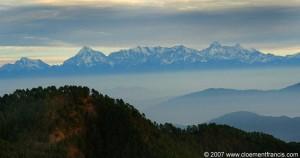 Panchkuli range – View from Vinayak, western Himalayas